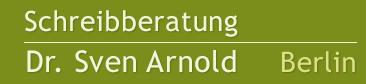 Schreibberatung Dr. Sven Arnold